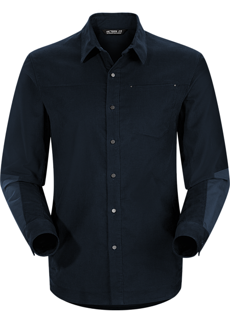 Merlon Shirt LS Men's Casual, long sleeved cotton blend corduroy shirt with contrasting canvas reinforcements.