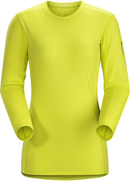 Phase SL Crew LS Women's Moisture-wicking base-layer; ideal as lightweight insulation layer during aerobic activities. Phase Series: Moisture wicking base layer | SL: Superlight.
