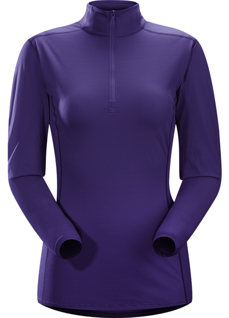 Phase SL Zip Neck LS Women's Moisture-wicking base-layer with zip neck; Ideal as lightweight insulation layer during aerobic activities. Phase Series: Moisture wicking base layer | SL: Superlight.