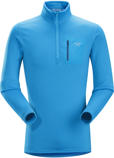Rho AR Zip Neck Men's Breathable, moisture-wicking, insulated jersey with collar zip to aid with temperature regulation