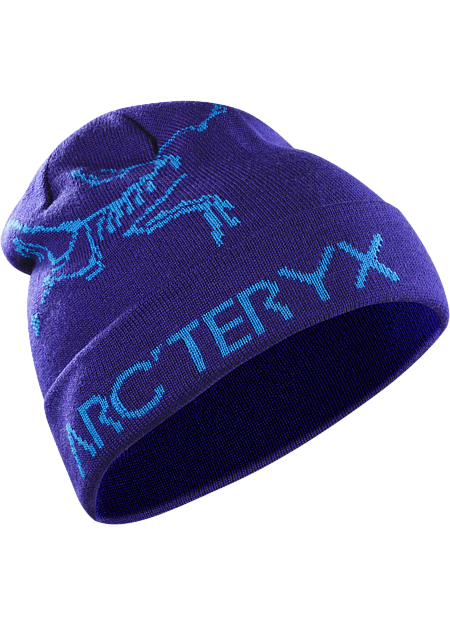 Rolling Word Toque Men's A warm, reversible winter hat featuring bold Arc'teryx graphics on one side, solid color on the other.