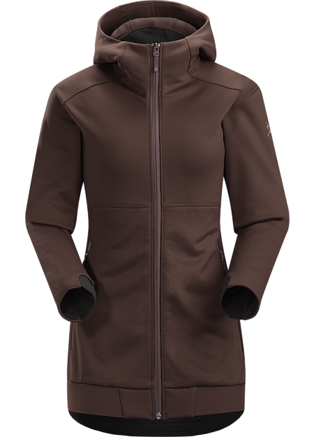 Straibo Hoody Women's Cobblecomb™ fleece hoody combines modern mountain styling with elevated thermal performance.