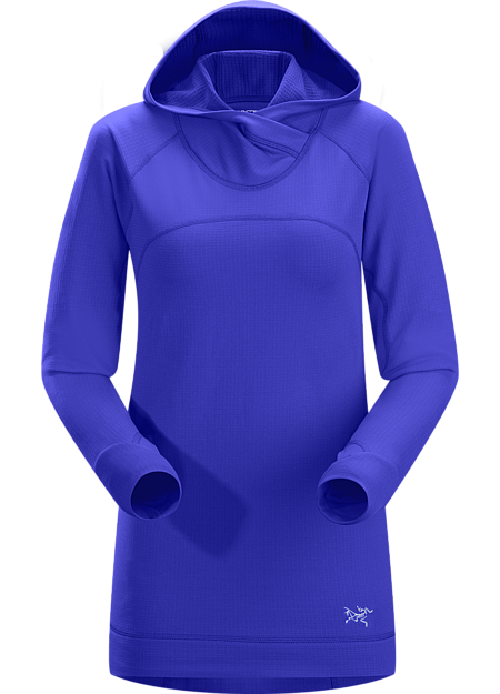 Thaleia Hoody Women's Smooth faced, grid backed Polartec® Power Dry® fleece hoody provides mid layer comfort and warmth on cold weather training days.