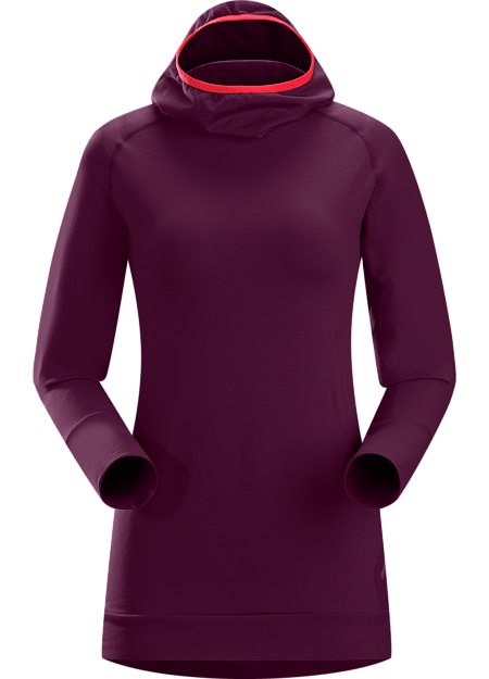 Vertices Hoody Women's A trim fitted, cold weather base layer with a balaclava style hood.