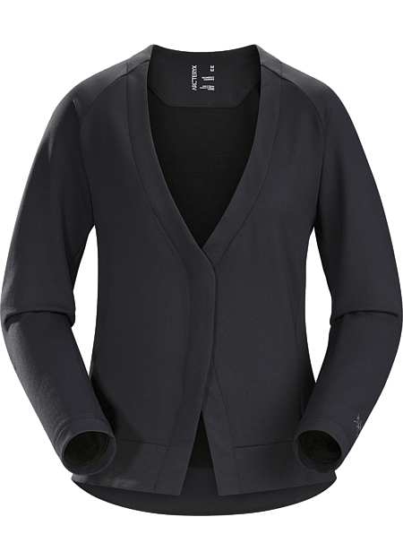 A2B Cardigan Women's Classic wool cardigan updated for the urban bike commute.