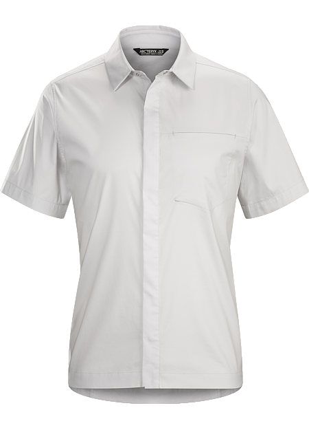 A2B Shirt SS Men's Bike commuter's short-sleeve button down in a technical cotton blend fabric.