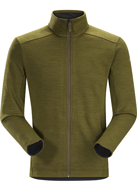 A2B Vinton Jacket Men's Performance Merino blend midlayer for bike commutes and urban living.