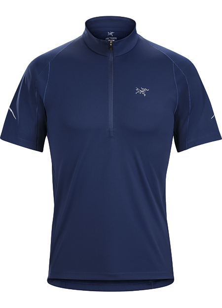 Accelerator Zip Neck Shirt SS Men's Midweight, quick drying, short sleeve technical zip neck for exceptional moisture management and comfort during high output activities in cool conditions.