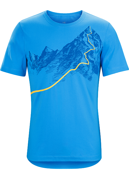 Afterglo Heavyweight T-Shirt Men's Heavyweight organic cotton T-shirt with a night ascent graphic.