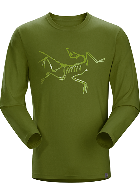Archaeopteryx T-Shirt LS Men's T-shirt with a large Arc'teryx bird in glossy clear gel ink.