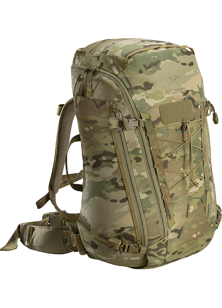 Assault Pack 45 MultiCam Fully padded, single compartment bag.