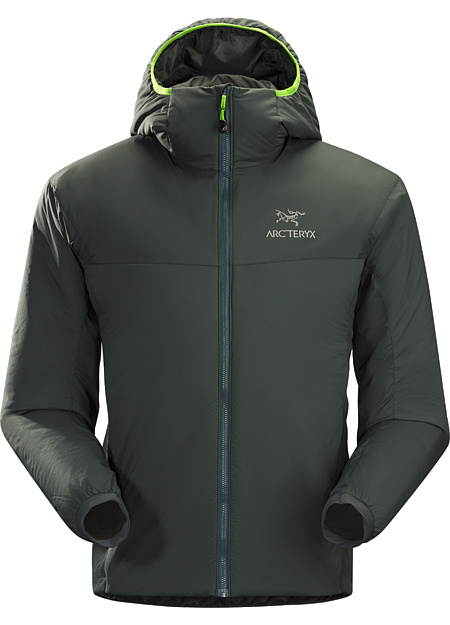 Atom LT Hoody Men's Insulated, mid-layer hoody with wind and moisture resistant outer shell; Ideal as a layering piece for cold weather activities. Atom Series: Synthetic insulated mid layers | LT: Lightweight.