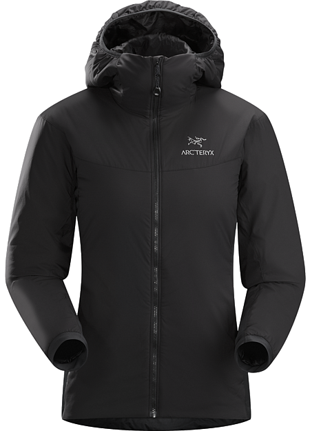Atom LT Hoody Women's Lightweight, breathable, insulated hoody; Ideal as a stand-alone piece in fair weather, or as a layering piece in cold conditions. Atom Series: Synthetic insulated mid layers | LT: Lightweight.