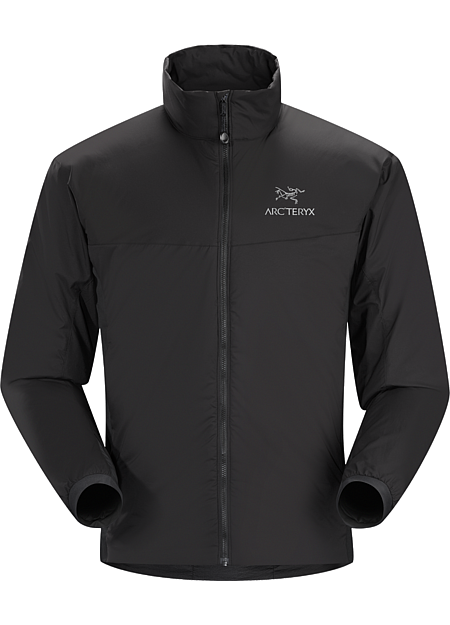 Atom LT Jacket Men's Insulated, mid-layer jacket with wind and moisture resistant outer face fabric; Ideal as a layering piece for cold weather activities. Atom Series: Synthetic insulated mid layers | LT: Lightweight.