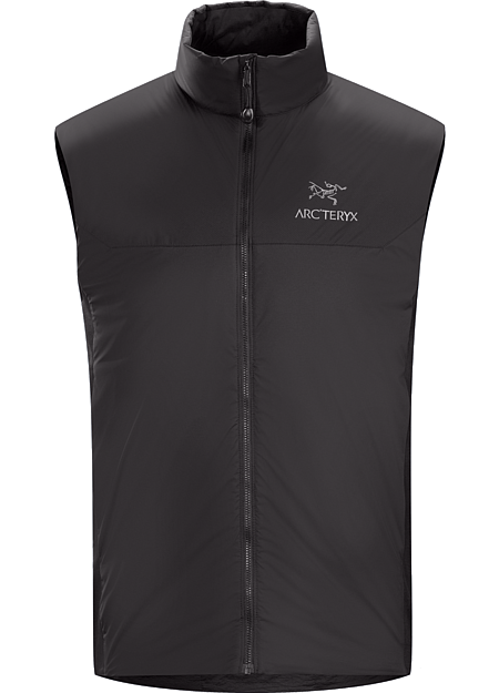 Atom LT Vest Men's Lightweight, insulated Coreloft™ vest, designed to preserve core warmth. Ideal as a layering piece for cold weather activities. Atom Series: Synthetic insulated mid layers | LT: Lightweight.