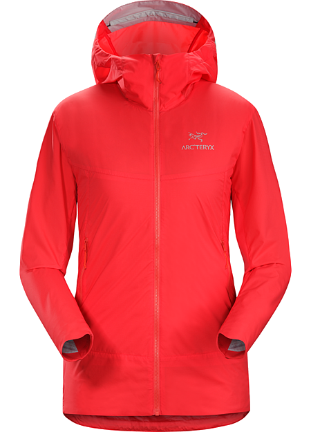 Atom SL Hoody Women's Lightly insulated Coreloft™ Compact hooded jacket with air permeable side panels. Atom Series: Synthetic insulated mid layers | SL: Super light.