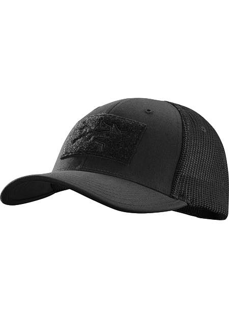 B.A.C. Hat Mesh-backed cotton ball cap with the Arc'teryx logo.