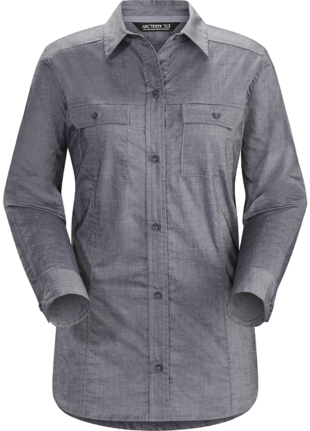 Ballard Shirt LS Women's Tailored, casual button up shirt in a light, airy cotton chambray fabric.
