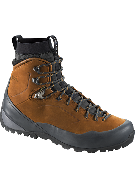 Bora Mid Leather GTX Hiking Boot Men's Durable, supportive multiday hiking boot with GORE-TEX® waterproof/breathable protection, Arc'teryx Adaptive Fit comfort, and a comfortable nubuck leather upper.