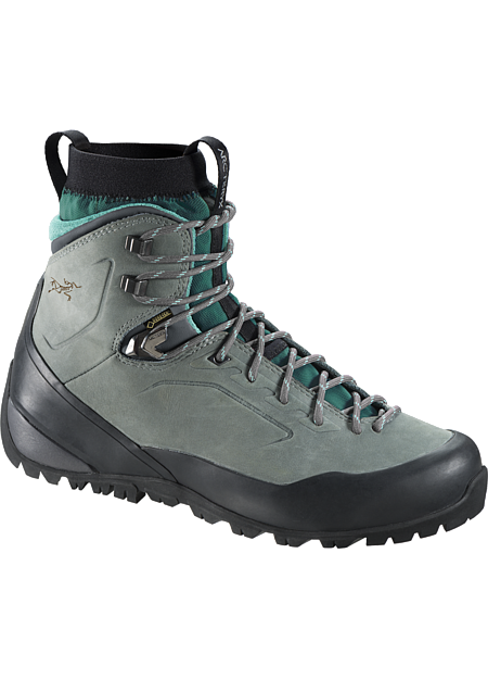Bora Mid Leather GTX Hiking Boot Women's Durable, supportive multiday hiking boot with GORE-TEX® waterproof/breathable protection, Arc'teryx Adaptive Fit comfort, and a comfortable nubuck leather upper.