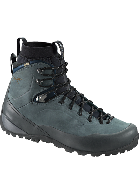 Bora2 Mid Leather Hiking Boot Men's The proven comfort and performance of leather combines with progressive Arc'teryx footwear technologies to create an exceptional boot for extended day treks on rugged terrain.  Includes 1 pair of GORE-TEX® MID-LINERS.