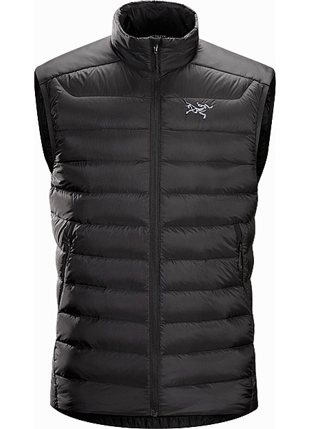 Cerium LT Vest Men's Streamlined, lightweight, vest filled with 850 white goose down. This backcountry specialist vest is intended as a mid layer or standalone piece in cool, dry conditions. Down Series: Down insulated garments | LT: Lightweight.