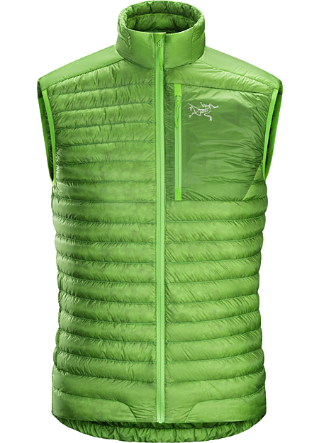 Cerium SL Vest Men's Super minimalist, ultralight 850 fill power down vest designed as a midlayer for cool, dry conditions. Down Series: Down insulated garments | SL: Super Light.