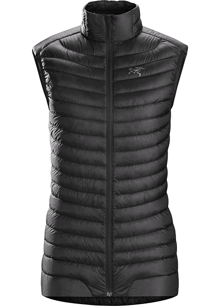 Cerium SL Vest Women's Women's minimalist 850 fill power down vest provides ultralight midlayer warmth in cold, dry conditions. Down Series: Down insulated garments | SL: Super Light.