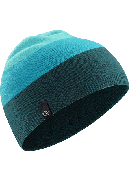 Charlie Toque Lightweight, form fitting striped acrylic beanie with stretch.