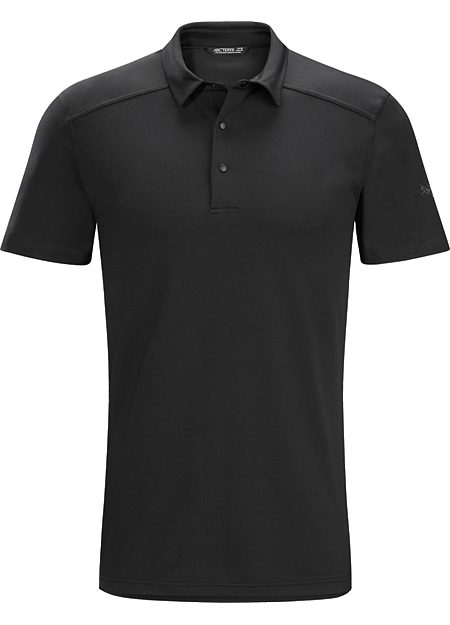 Chilco Polo Shirt SS Men's City casual polo in a technical fabric that combines natural fibre comfort with quick drying performance.