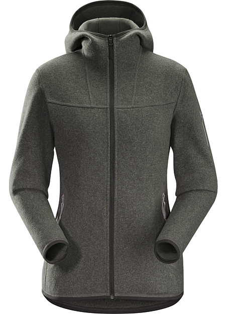 Covert Hoody Women's Clean, casual lines and technical Alpenex™ fleece performance combine in a hooded jacket with wool sweater styling