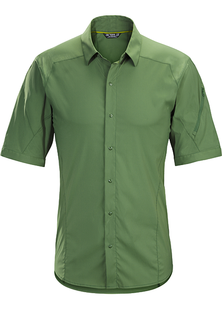 Elaho Shirt SS Men's Light, air permeable, hardwearing snap-front hiking and trekking shirt created for extended backcountry travel in hot weather.
