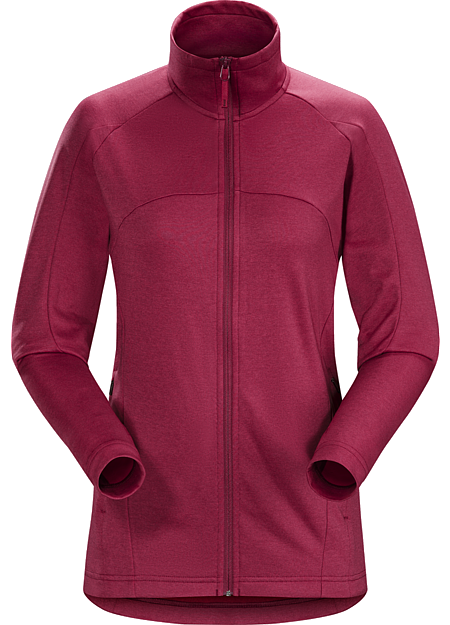 Ellison Jacket Women's Trim fitting, lightweight, fleece jacket designed for urban bike commutes and everyday wear.