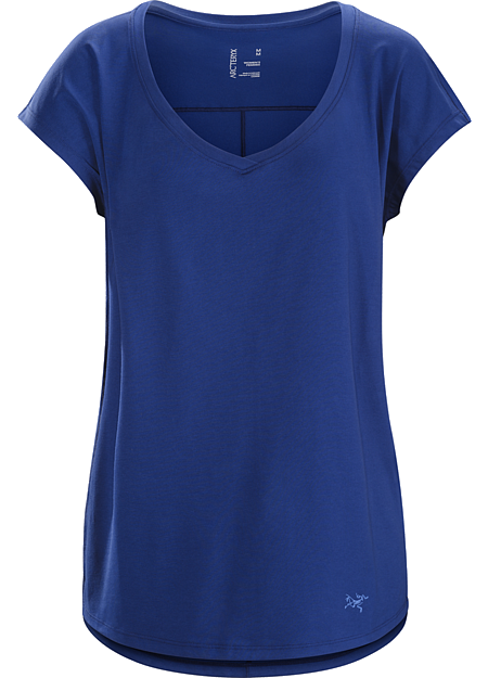 Emory Top SS Women's Casual V-neck in a cotton blend performance fabric.