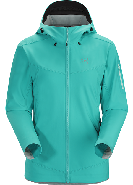 Epsilon LT Hoody Women's Moderate warmth mid layer hoody with good air permeability and the durable woven face of a softshell. Epsilon Series: Abrasion resistant mid layer fleece | LT: Lightweight.