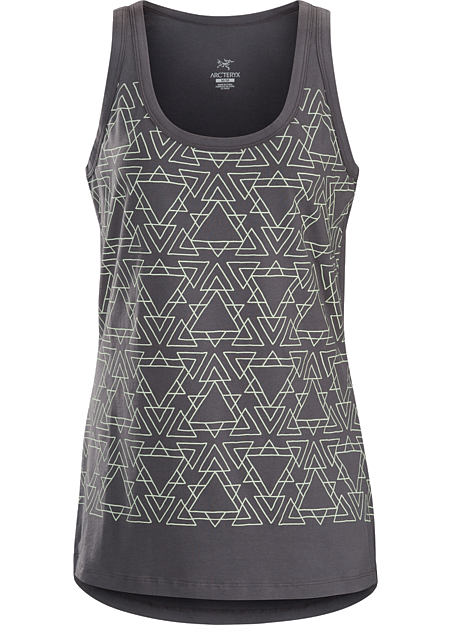 Equilateral Tank Women's Women's organic cotton tank top with a triangle graphic pattern.