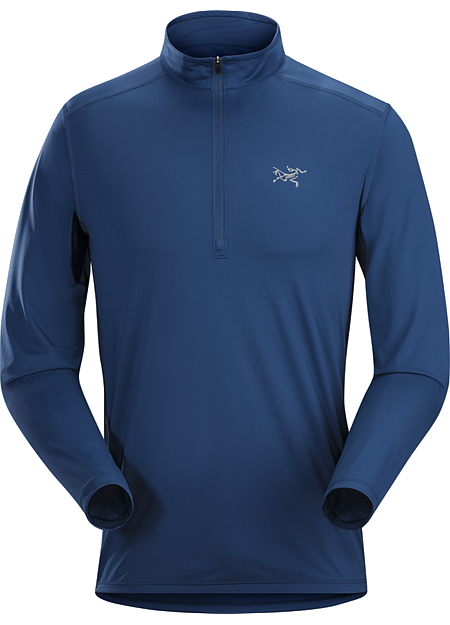 Ether Zip Neck LS Men's Technical, hardwearing, moisture wicking Helius™ polyester zip neck with mesh side and underarm panels. Designed for extended backpacking and trekking.