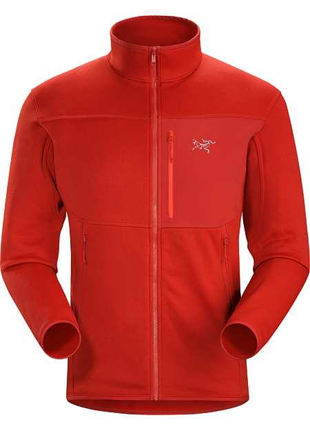 Fortrez Jacket Men's Polartec® Power Stretch® fleece with Hardface® Technology jacket for climbers and alpinists. Functions as a midweight layer or lightweight standalone.