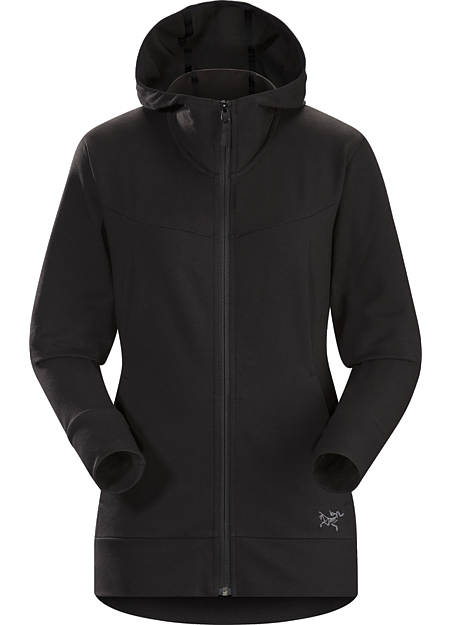 Kenai Hoody Women's Classic full-zip hoody made from a soft performance blend French terry.