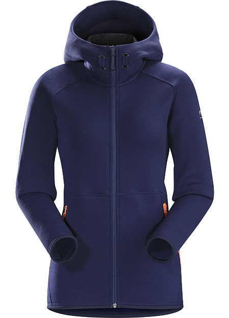 Maeven Hoody Women's Lightweight, low profile Polartec® Power Stretch® Pro full zip hoody for warmth and wicking performance during athletic days on the hill.