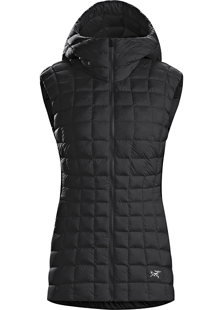 Narin Vest Women's Lightweight, casual, hooded down vest with clean urban style.
