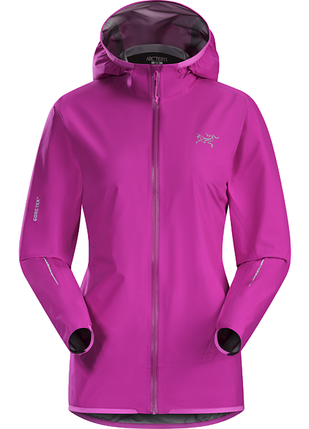 Norvan Jacket Women's Ultra minimalist waterproof breathable women's GORE-TEX® shell for high output activities in wet, windy weather.