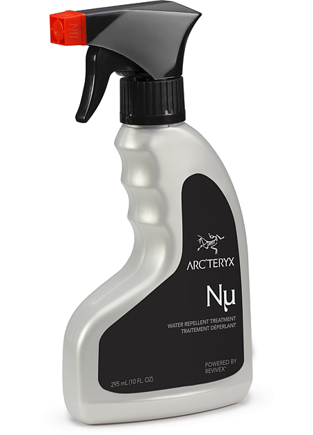 Nu Water Repellent Treatment Spray-on fabric treatment that helps to restore and improve the performance of water repellent garments.