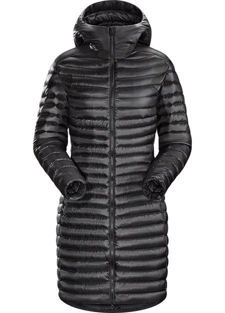 Nuri Coat Women's Lightweight hooded down coat with a distinct urban style. Improved fit and silhouette for Fall 2016.