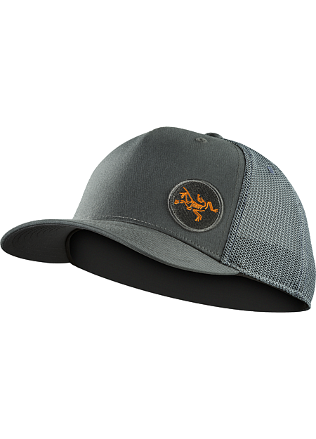 Patch Trucker Hat Classic mesh backed trucker hat with a rubberized Arc'teryx graphic on the front.