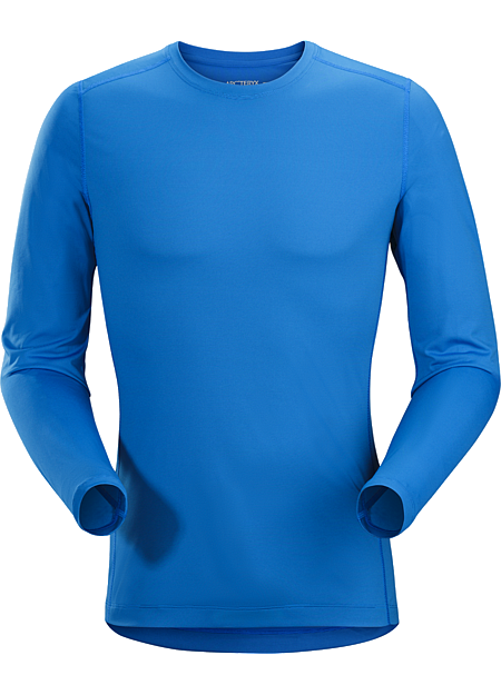 Phase SL Crew LS Men's Silkweight Phasic™ baselayer top for high output in cooler temperatures. Phase Series: Moisture wicking base layer | SL: Superlight.