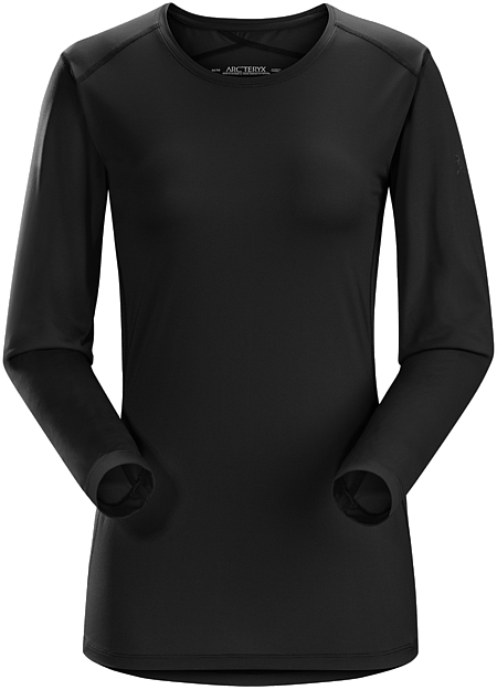Phase SL Crew LS Women's Silkweight Phasic™ baselayer top for high output in cooler temperatures, Phase Series: Moisture wicking base layer | SL: Superlight.