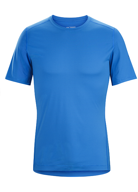 Phase SL Crew SS Men's Silkweight Phasic™ short-sleeve baselayer for high output in cooler temperatures.  Phase Series: Moisture wicking base layer | SL: Superlight.