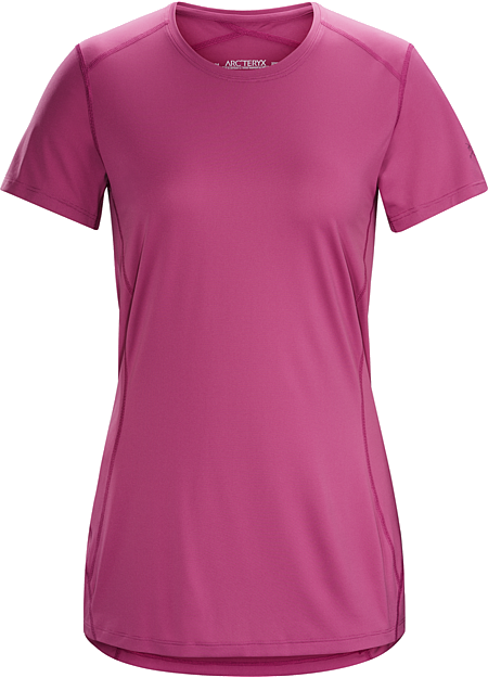 Phase SL Crew SS Women's Silkweight Phasic™ short-sleeve baselayer for high output in cooler temperatures.  Phase Series: Moisture wicking base layer | SL: Superlight.