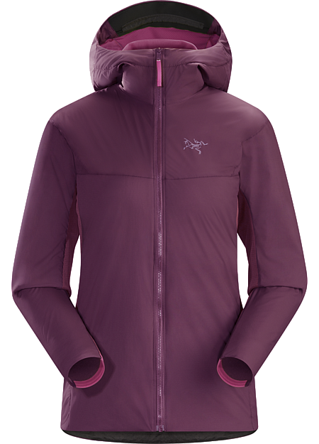 Procline Hybrid Hoody Women's Women's hybrid fleece hoody that delivers thermal management and freedom of movement during ski alpinism's high output technical ascents.